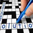 Crossword - business and solution — Stock Photo