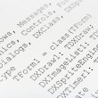Printed computer code — Stock Photo