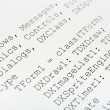 Royalty-Free Stock Photo: Printed computer code