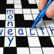 Royalty-Free Stock Photo: Crossword - wealth and money
