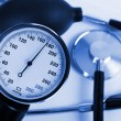 Stock Photo: Scale of pressure and stethoscope