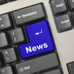 Computer keyboard - key News — Stock Photo