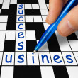 Crossword - business and success — 图库照片