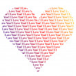 Royalty-Free Stock Photo: Heart shaped words I Love You