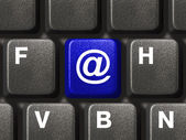 PC keyboard with e-mail key — ストック写真