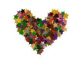 Estrelas de forma de coração — Foto Stock