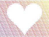 Heart shaped words I Love You — Stock Photo