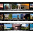 Frames of film, nature and travel - Stock Photo