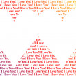 Royalty-Free Stock Photo: Hearts shaped words I Love You