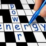 Crossword - power and energy — Stock Photo #4025263