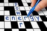 Crossword - power and energy — Foto de Stock
