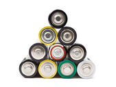 Stack of battery — Stock Photo