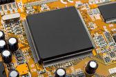 Macro of computer chip — Stock Photo