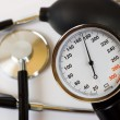 Scale of pressure and stethoscope — Foto de Stock