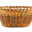 Empty wood basket — Foto Stock