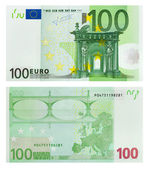Two sides of 100 euro banknote — Stock Photo