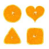 Shapes of orange fruit — Stock Photo