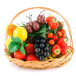 Basket with fruits — Stock Photo #4056997