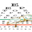 Royalty-Free Stock Photo: Glasses on eyesight test chart