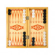 Retro backgammon game - Stock Photo