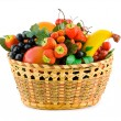 Basket with fruits — Stock Photo #4063485