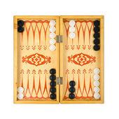 Retro backgammon game — Stock Photo