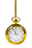 Retro gold clock — Stockfoto