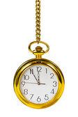 Retro gold clock — Stock Photo