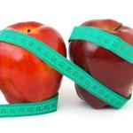mele e nastro di misurazione — Foto Stock #4073317