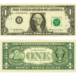 One dollar banknote - Stock Photo