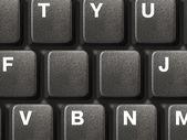 PC keyboard with two empty keys — Stock Photo