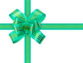 Nastro e fiocco verde — Foto Stock