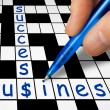 Crossword - business and success — Stock Photo