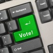 Computer keyboard with vote key — Stock Photo