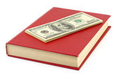 Money and book — Stock Photo
