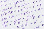 Mathematik formel — Stockfoto