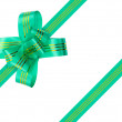 Green bow and ribbon — Stock Photo #4164132