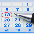 Pen and calendar - Stock Photo