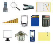 Set of business objects — Stock Photo