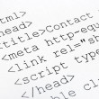 Printed internet html code — Stock Photo