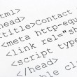 Stock Photo: Printed internet html code