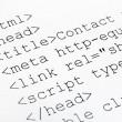 Printed internet html code — Stock Photo