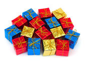 çok renkli hediyeler — Stok fotoğraf