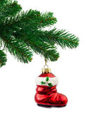 Christmas tree and toy — Stock Photo