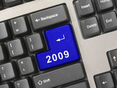 Computer keyboard with 2009 key — Stock Photo