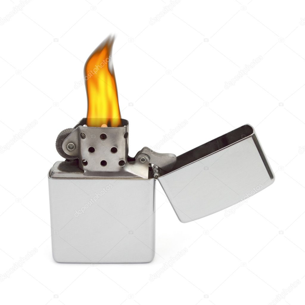 Retro lighter isolated on white background  Stock Photo #4171553