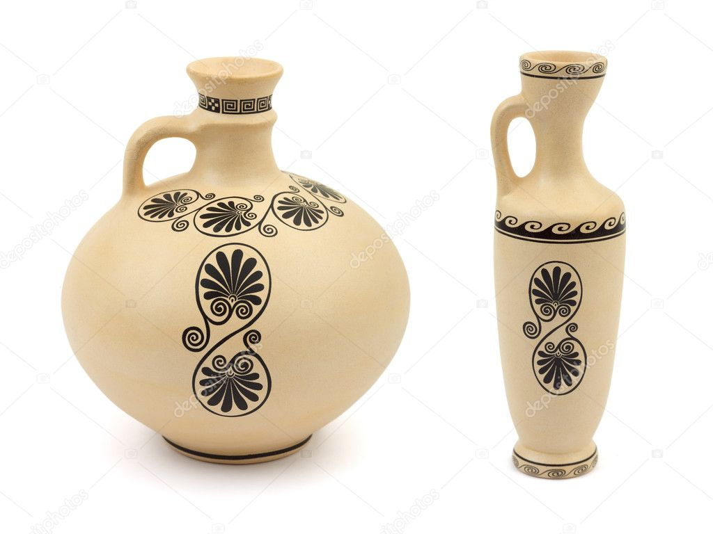 Two retro vases isolated on white background — Stock Photo #4174553