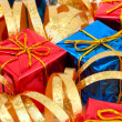Gifts and ribbon - 图库照片