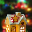 Lighting house and christmas tree — Stock Photo #4208783
