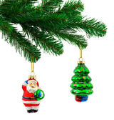 Christmas tree and toys — Foto Stock